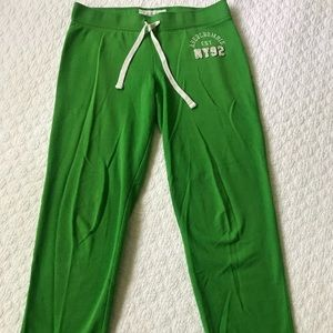Abercrombie & Fitch green sweatpants